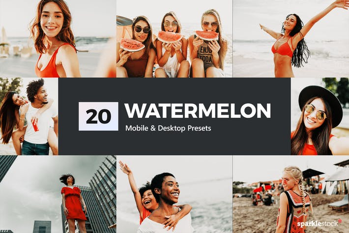 Thumbnail for 20 Watermelon Lightroom Presets and LUTs