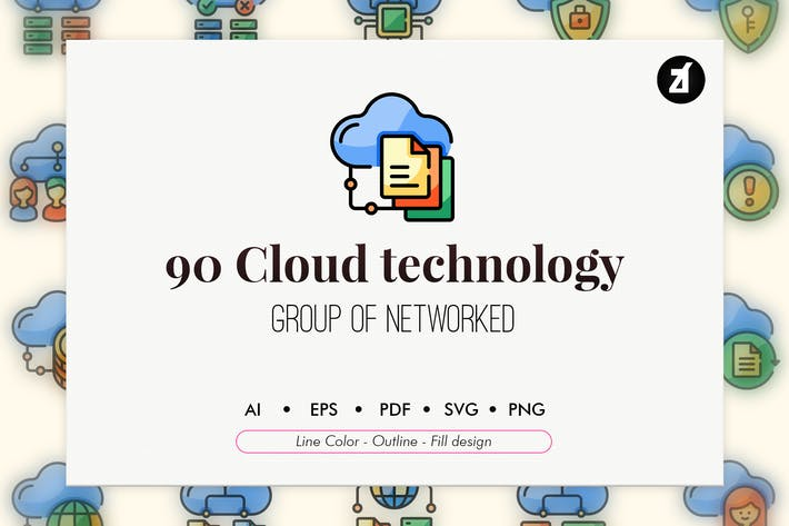 Thumbnail for 90 Cloud-Technologie-Element-Icon