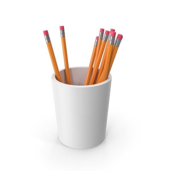 Pencil Cup With Pencils