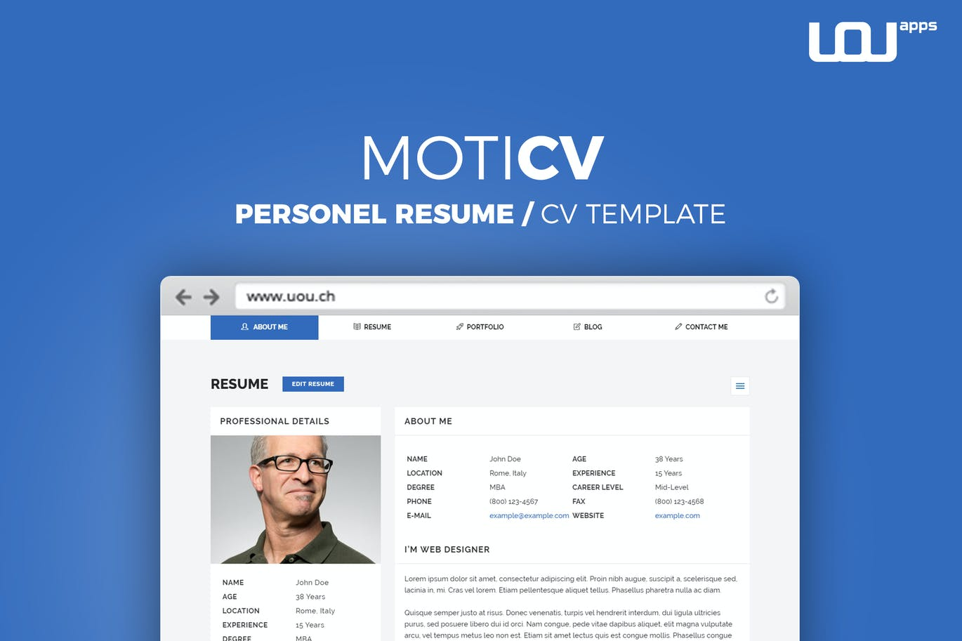 10 free professional html css cv resume templates
