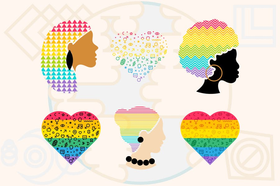 Pride Hearts And People Set