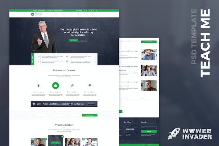 Thumbnail for Teach Me - Education PSD Template
