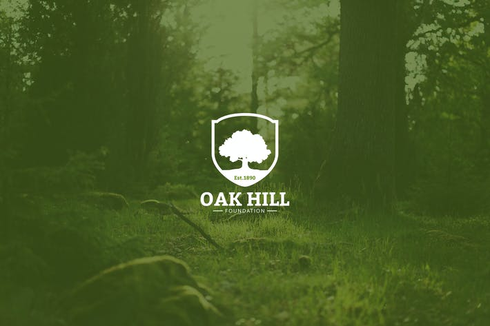 Vintage Oak Tree Logo