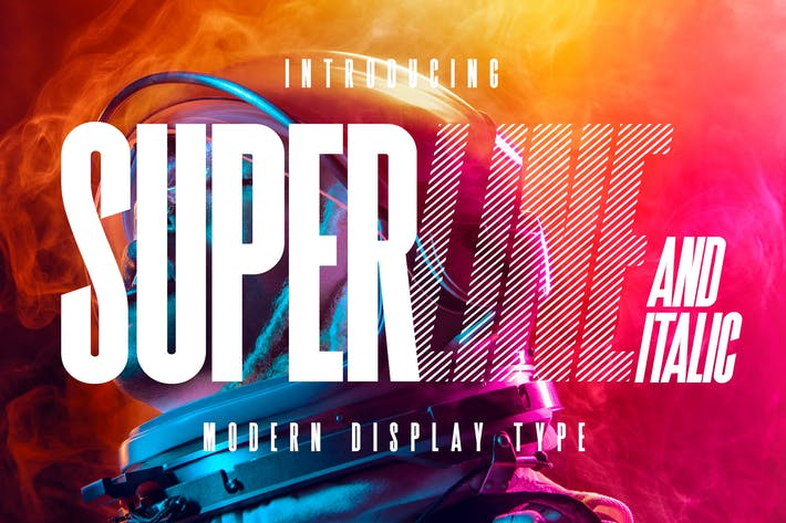 Thumbnail for SuperLine Display Typeface