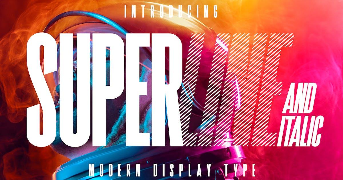 Download SuperLine Display Typeface by Kavoon