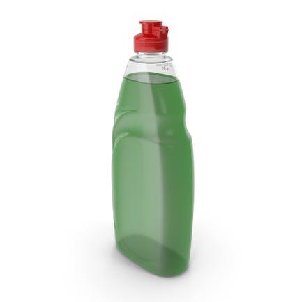 Líquido verde para lavar platos