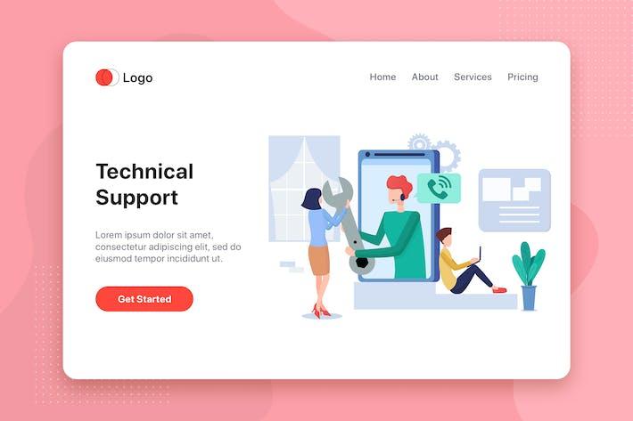 Cover Image For Technical support Illustration - Website Header