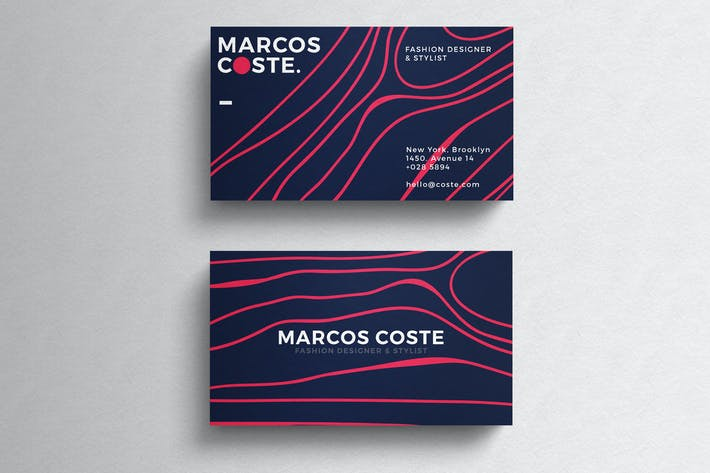 Thumbnail for Colored Minimal Business Card Template