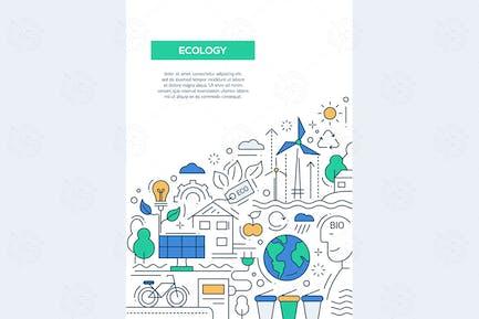 Ecología - línea de Diseño Folleto Plantilla de cartel A4