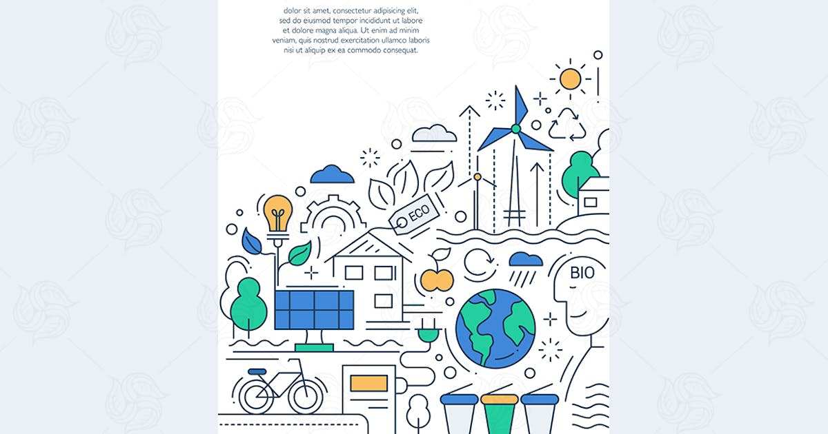 Download Ecology - line design brochure poster template A4 by BoykoPictures