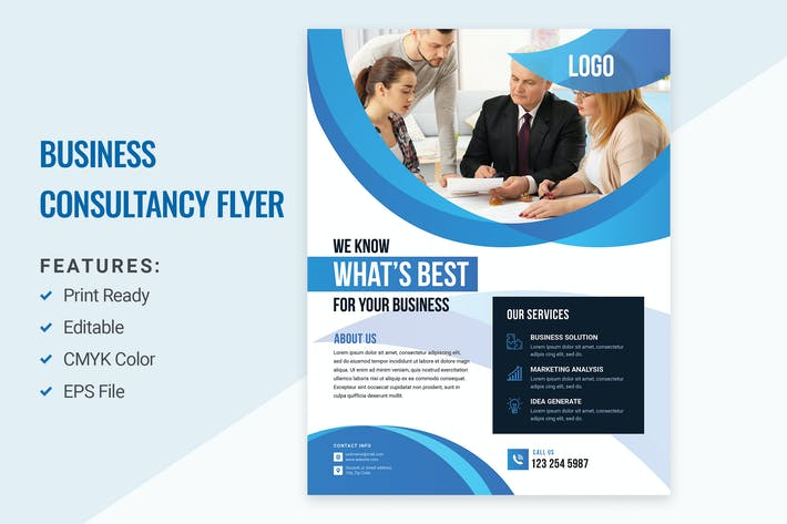 Thumbnail for Consulting Company Flyer Design