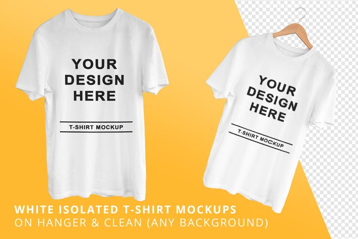 Thumbnail for Weiße isolierte T-Shirts Mock-ups