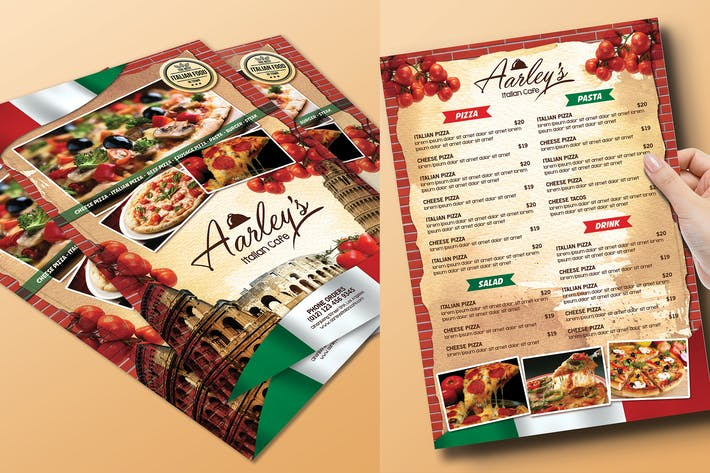 Thumbnail for Italian Food Menu Flyer