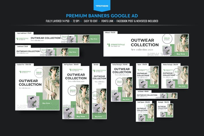 Thumbnail for Fashion Banners Ads Template V6