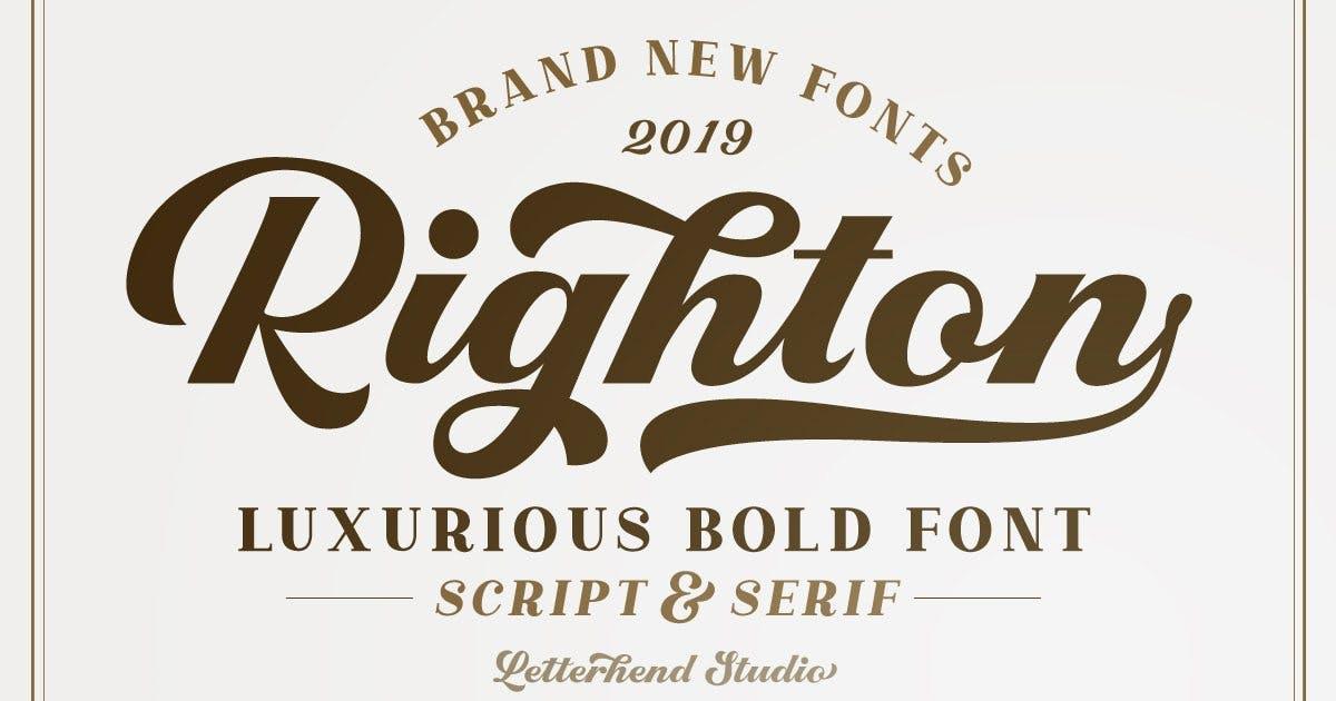 Download Righton - Script & Serif Font Duo by letterhend