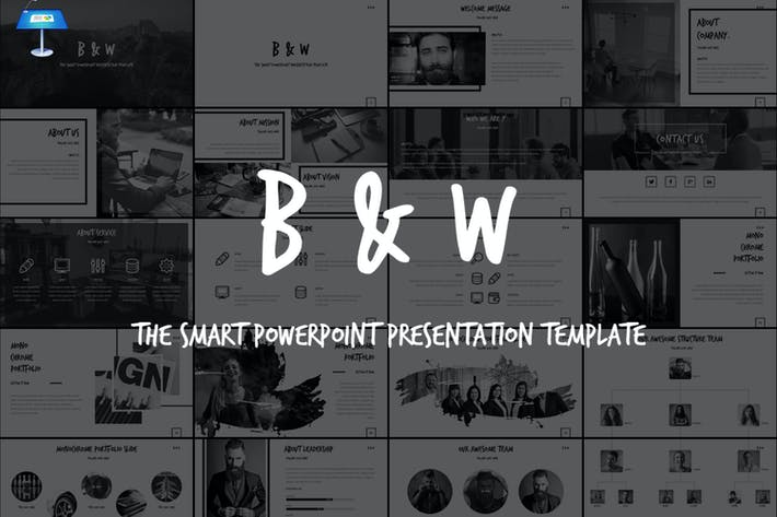 Thumbnail for B&W - Keynote Template