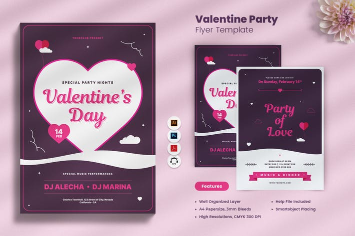 Thumbnail for Valentines Day Party Flyer