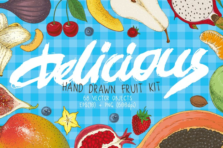 Cover Image For Delicioious Handdrawn Fruit Kit