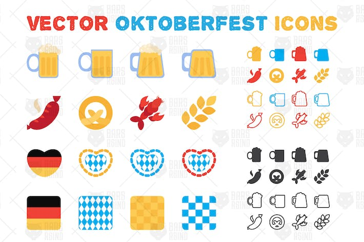Thumbnail for Oktoberfest Icons Set