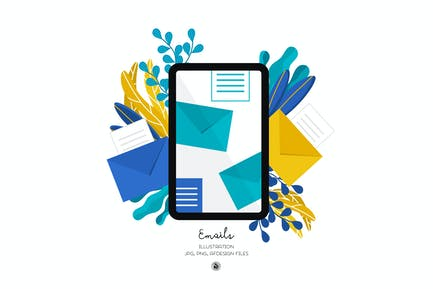 Emails Illustration