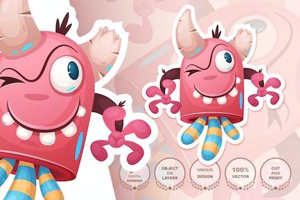 Cartoon Charakter entzückendes Monster