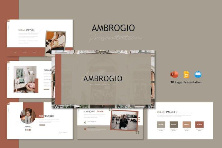 Thumbnail for Ambrogio - Шаблон презентации