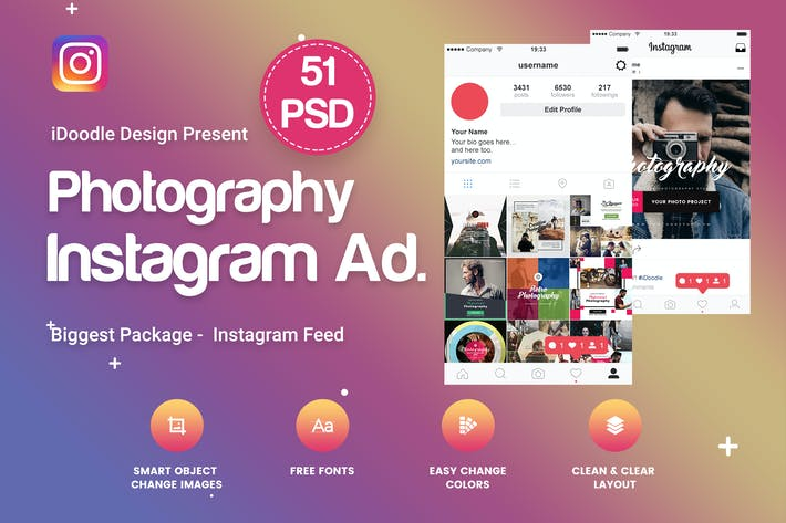 Thumbnail for Photography Instagram Banners Ads - 51 PSD