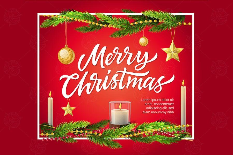 Merry Christmas - vector realistic illustration