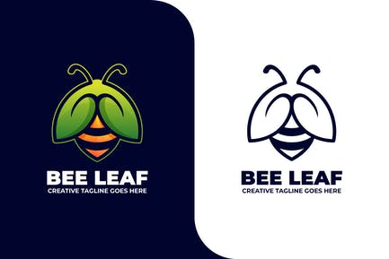 Bee Leaf Animal Logo