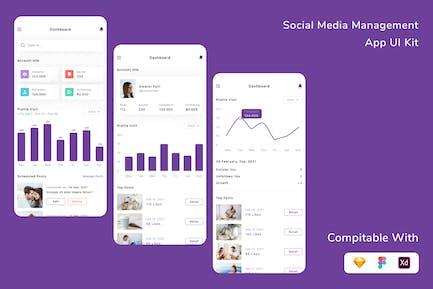 Social Media Management App UI Kit