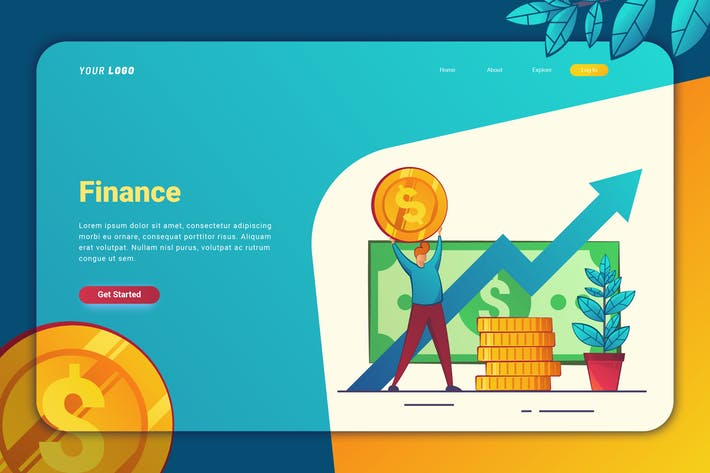 Thumbnail for Finance - Landing Page
