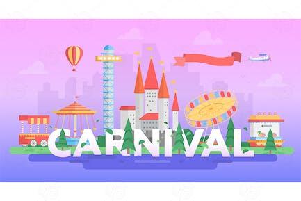 Carnival - modern vector banner illustration