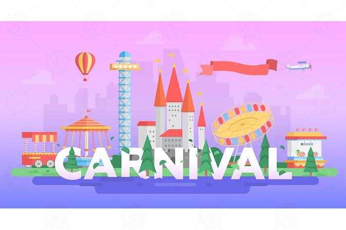 Thumbnail for Carnival - modern vector banner illustration