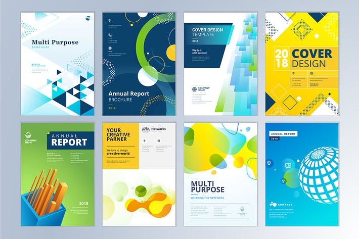 Thumbnail for Brochure, annual report, flyer design templates