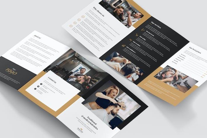 Thumbnail for Brochure – Barber Shop Tri-Fold A5
