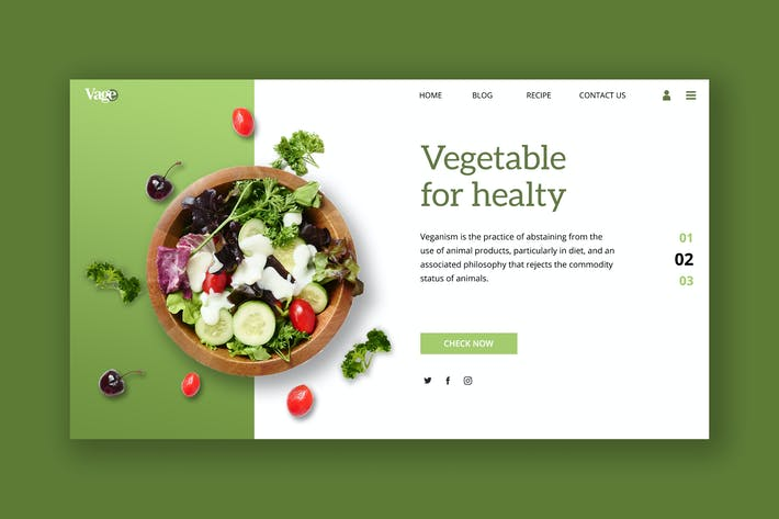 Thumbnail for Vegetable Hero Header Template