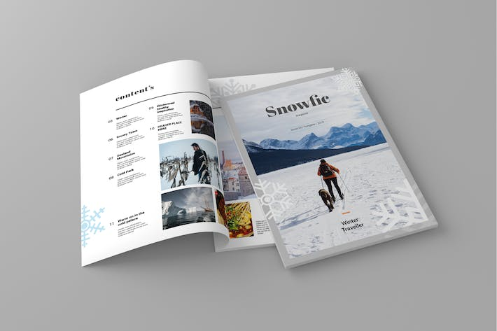 Thumbnail for Snowfix - Magazine Template