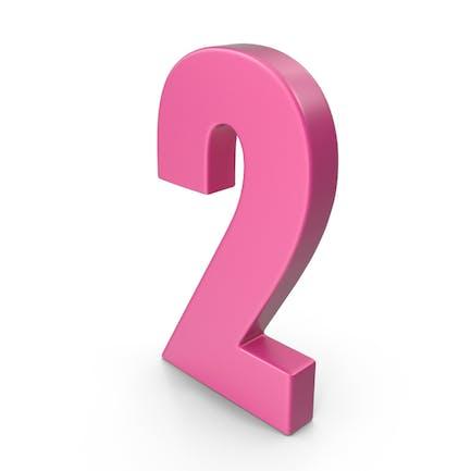 2 Number Pink