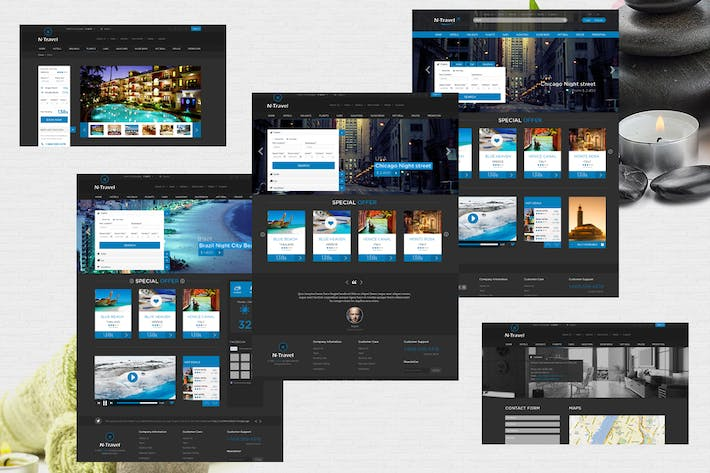 Thumbnail for N-Travel - Psd Template
