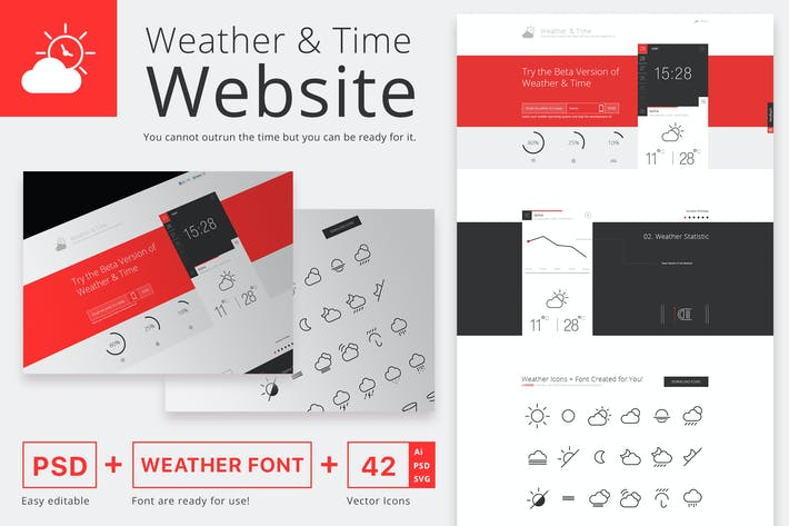 Weather and Time Website