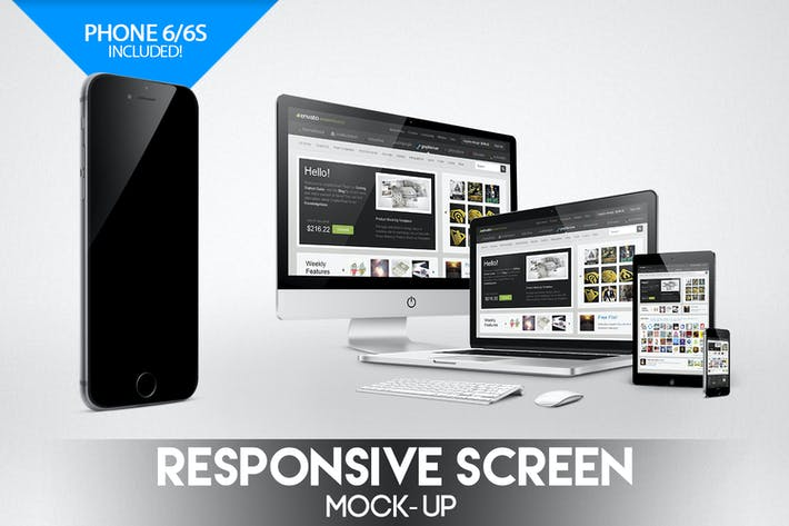 Thumbnail for Responsive Screen Mock-Up