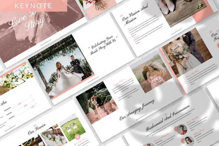 Love Bride Story - Wedding Keynote Template