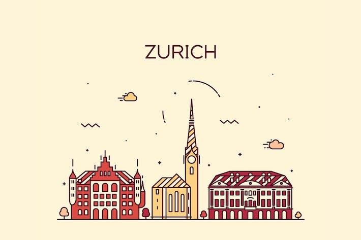Thumbnail for Zurich skyline, Switzerland