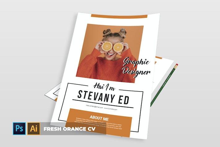 Thumbnail for Fresh Orange | CV & Resume