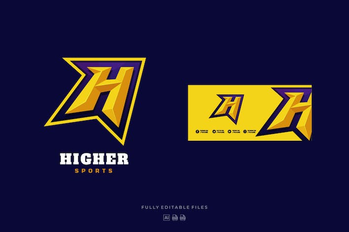 Thumbnail for Letter H Sports and E-sports Logo