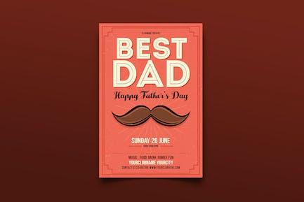 dépliant ête des pères du meilleur papa