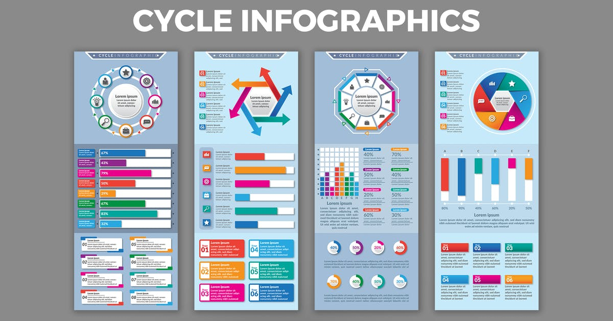 Download Cycle – Infographics Design by designesto