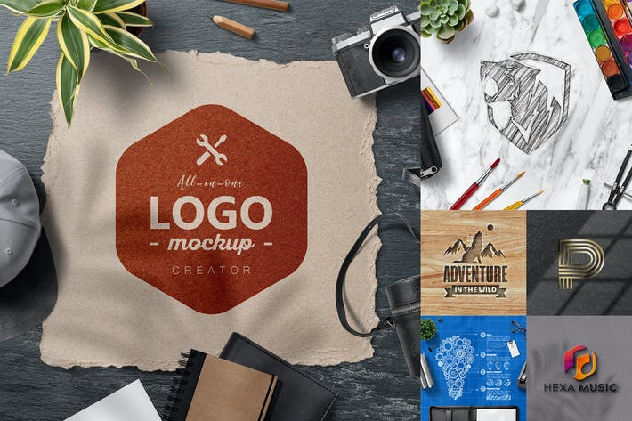Cover Image For All-In-One Logo Mockup Creator