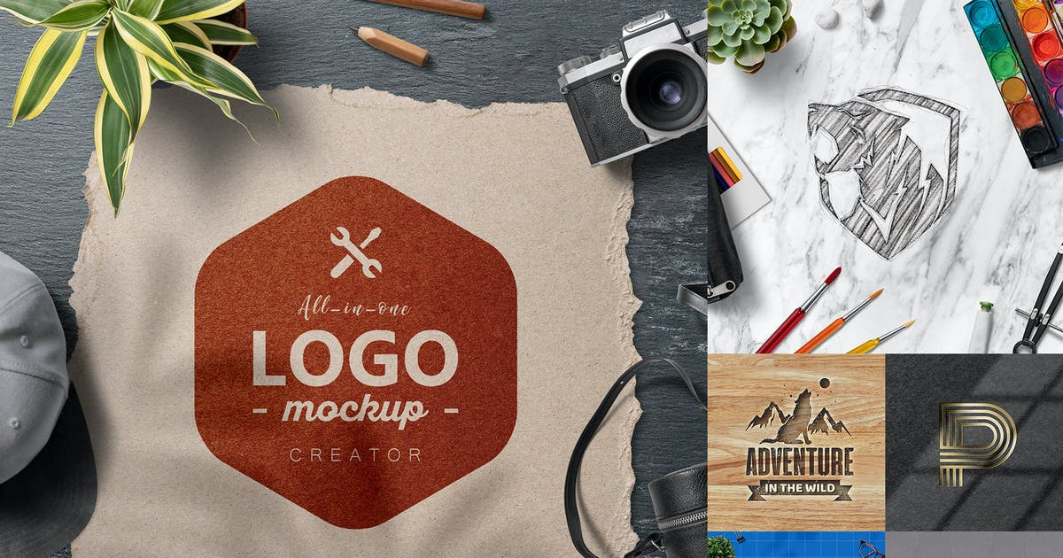 Download All-In-One Logo Mockup Creator by h3-design