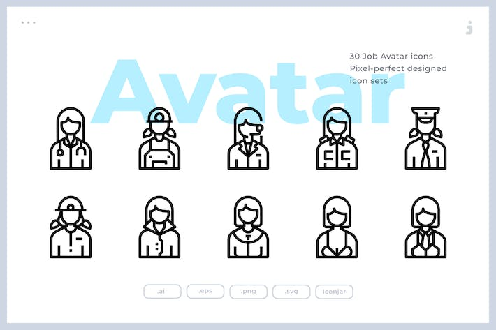 Thumbnail for 30 Avatar Icons